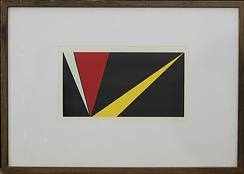 OLLE BAERTLING, färgserigrafi, ur Konkret konst, Vilhelm Bjerke Petersen, Raben & Sjögren, Halmstad 1956.
