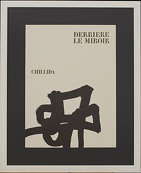 EDUARDO CHILLIDA, litografi, omslag till Derrière le Miroir.