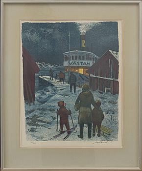 ROLAND SVENSSON, färglitografi, signerad, 36/250 .