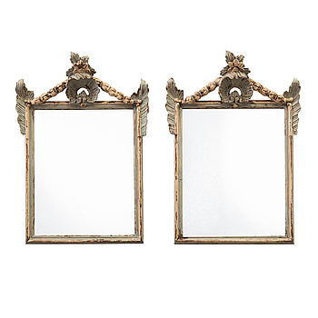 A pair of late 19th century mirrors.