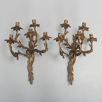 a pair of wall sconces from 19th century.