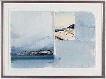 LARS LERIN, akvarell, signerad Lars Lerin och daterad januari 1990.
