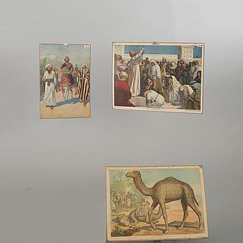 SKOLPLANSCHER, 3 st, 1900-talets andra hälft.