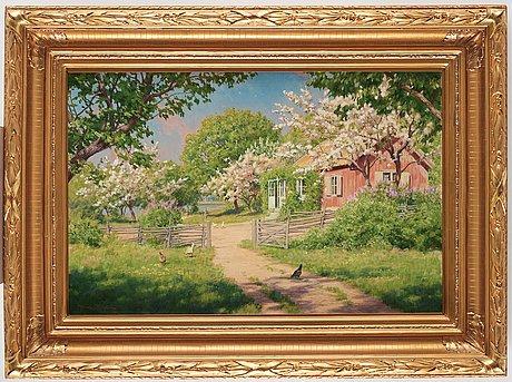 Johan krouthén, summer landscape.