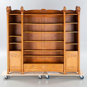 CARL CHRISTIAN CHRISTENSEN, bookshelf, signed and dated 1909.