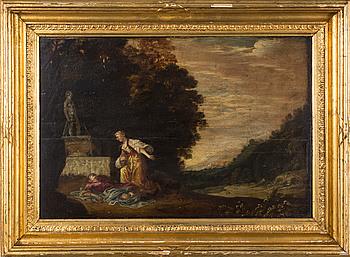 JACOB JACOBSZ DE WET, hans krets. olja på pannå.