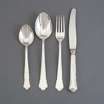 "BESTICK, 48 delar, silver, ""Chippendale"", GAB, Stockholm, 1900-talets fjärde kvartal, 2156 gram."