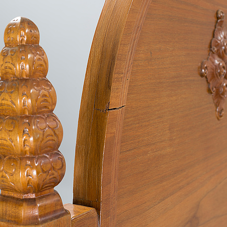 Carl christian christensen, a pair of jugend beds, signed and dated 1919.