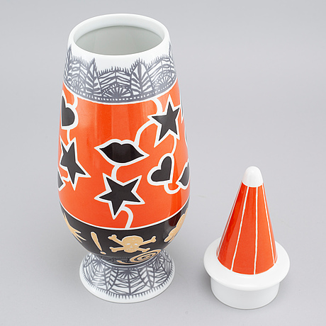 A Porcelain Vase By Alesso Mendini And Philippe Starck For Alessi
