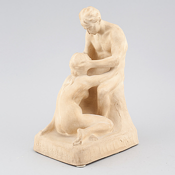 CARL CHRISTIAN CHRISTENSEN, a plaster sculpture, signed and dated 1915.