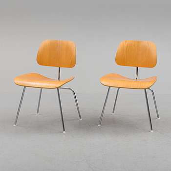CHARLES & RAY EAMES, a pair of 'DCM' chairs from Herman Miller, 2004.