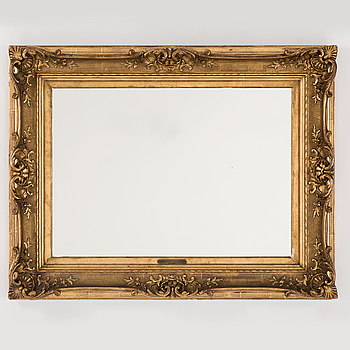 A French circa 1900 gilt mirror/picture frame.