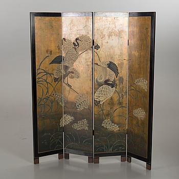 A Japanese flding screen, 20th century.