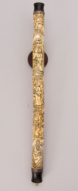 A Bone Metal And Wood Opium Pipe Probably China Circa 1900 Bukowskis