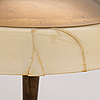 Paavo tynell, a 1940s/1950s model 5061 brass and opaline glass table light.