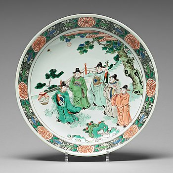 593. FAT, porslin. Qingdynastin, Kangxi (1662-1722).