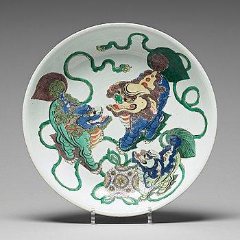 592. FAT, porslin. Qingdynastin, Kangxi (1662-1722).