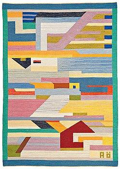 228. Agda Österberg, MATTA, rölakan, ca 243 x 172 cm, signerad AÖ.