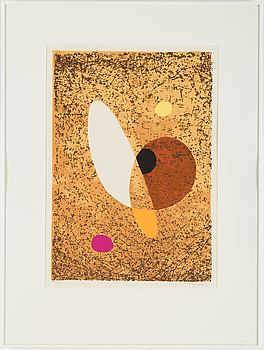 A Pierre Olofsson color litograph, signed and numbered 38/40.