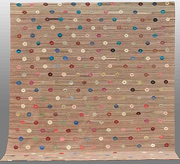 MATTA, slätväv, ca 278 x 263 cm.