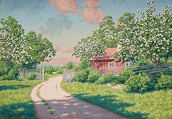 "514. Johan Krouthén, ""Sommarlandskap"" (Summer landscape)."