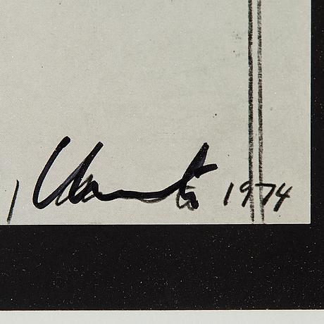 Christo & jeanne claude, offset, signerat christo med tusch