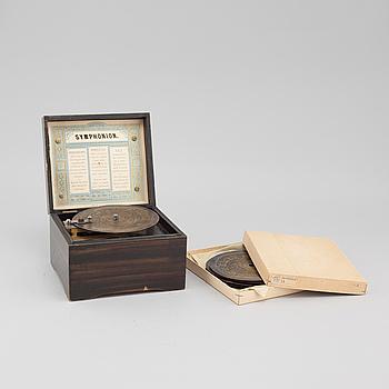 SPELDOSA, Symphonion Simplex,  Tyskland, sent 1800-tal.