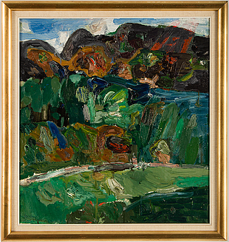 ANDERS FOGELIN, oil on canvas, signed and dated 1963.