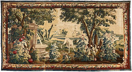 A tapestry, tapestry weave, ca 271 x 500,5 cm, aubusson, france 18th century, after oudry.
