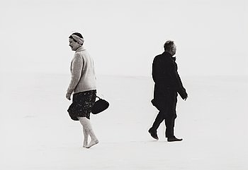 """306. Antanas Sutkus, """"J.P Sartre and Simone de Beauvoir in Lithuania, Nida, 1965""""."""