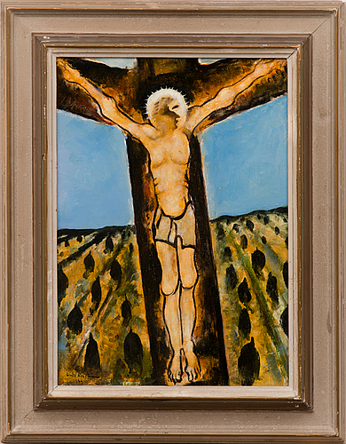 Unto koistinen, oil on panel, signed and dated 1966