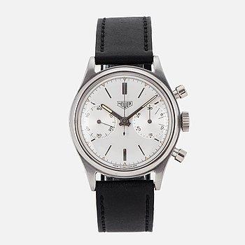 HEUER, wristwatch, chronograph, 35 mm.