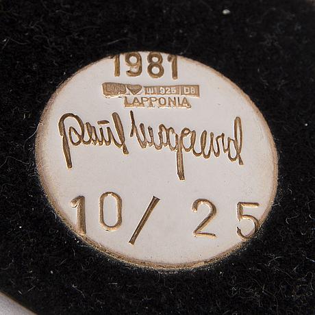 A poul havgaard sculpture, silver. lapponia 1981.