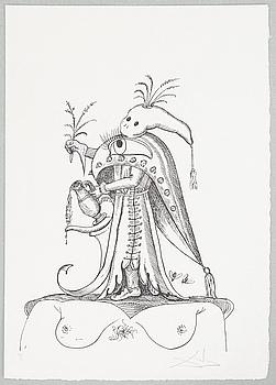 SALVADOR DALÍ, litografi, signerad och numrerad IV/L.