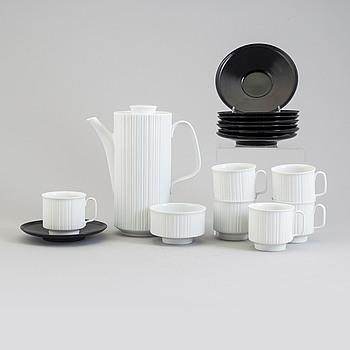 A 'Variation' porcelain coffee service by Tapio Wirkkala, Rosenthal Studio-linie, designed in 1962.