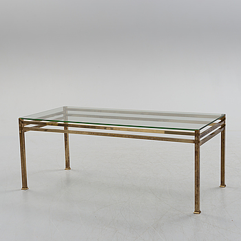 A brass side table, later part of the 20th century.
