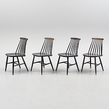 """Four 1950s/1960s """"Tellus"""" chairs by IKEA."""