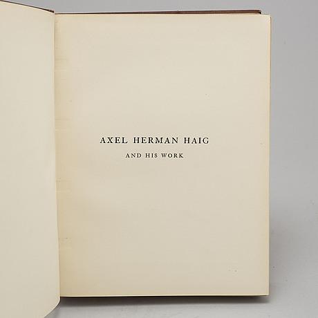 """Bok, """"axel herman haig (hägg) and his work"""", av e. a. armstrong 1905"""