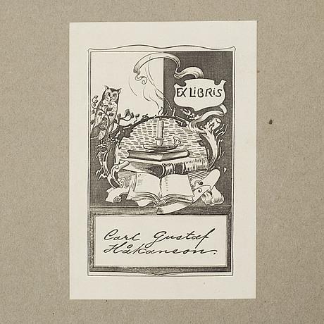 "Bok, ""axel herman haig (hägg) and his work"", av e. a. armstrong, london 1905"
