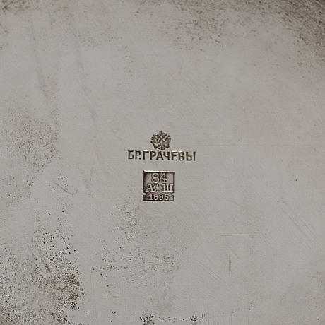 Mikhail gratchev, mugg, silver, s:t petersburg 1895. hovleverantörsmärke.