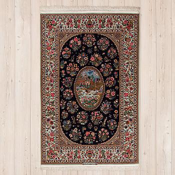 FIGURAL ISFAHAN, signerad Hassan Rahimi, ca 217 x 142 cm.