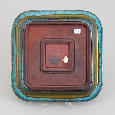 A wilhelm kåge 'farsta' stoneware dish, gustavsberg studio.