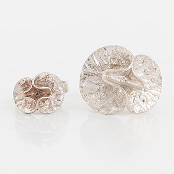 THERESIA HVORSLEV, ringar, sterling silver, bl.a. MEMA,  2 st, 1975 och 1988.