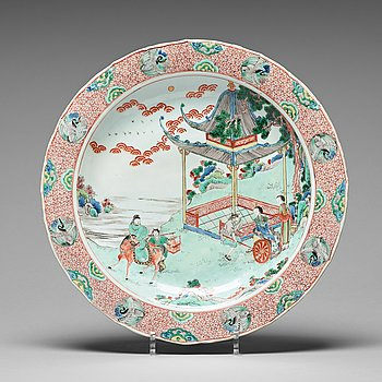 595. FAT, porslin. Qingdynastin, Kangxi (1662-1722).