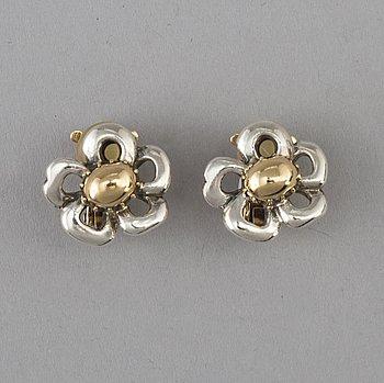 HERMES, clips 1970-80-tal, 18 karat guld och silver.