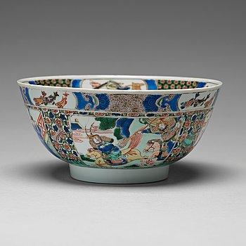 646. A famille verte bowl, Qing dynasty, Kangxi (1662-1722).