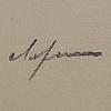 Pierre olofsson, färglitografi, signerad med dedikation, epreuve   d´artiste