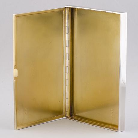 Cartier, cartier rasia, hopeaa ja 18k kultaa. lontoo 1936.