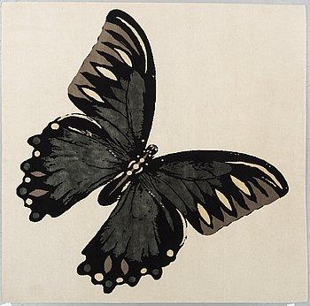 "MATTA, ""Papillon"", Tara Bernerd, The Rug Company, part silk, ca 200 x 200 cm ."