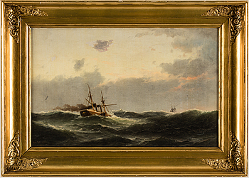 CARL LUDWIG BILLE, oil on board, signed and dated 1872.